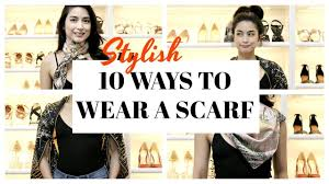 10 STYLISH WAYS TO TIE A <b>SCARF</b> Hermes Collection - YouTube