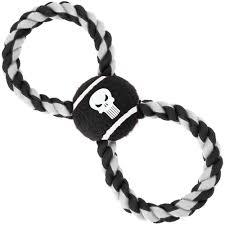 <b>Игрушка Buckle-Down Каратель</b> чёрный мячик на верёвке для ...