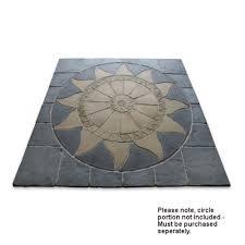 patio slab sets: deco pak aztec sun circle squaring off patio paving kit