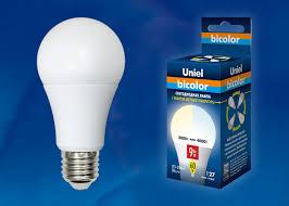 <b>LED</b>-<b>A60</b>-<b>9W</b>/<b>WW</b>+<b>NW</b>/<b>E27</b>/<b>FR PLB01WH Лампа</b> светодиодная ...