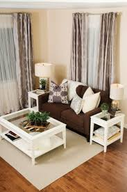 contemporary living room decor ideas brown couch with the white coffee table and matching end tables even the curtains are perfect match brown furniture living room ideas