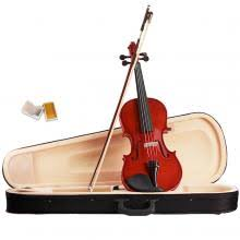 Violin <b>4/4 Full Size Natural</b> Acoustic Fiddle with Case Bow Rosin ...