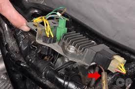 honda cb250 nighthawk cyclepedia online motorcycle repair manual honda cb250 nighthawk regulator rectifier removal installation