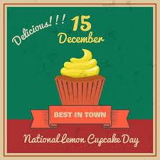 National Lemon Cupcake Day Retor Poster Vector Illustration ...