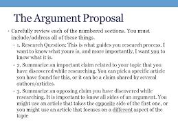 weekintroduction to the research paper projectreflection  the argument proposal carefully review each of the numbered sections you must includeaddress