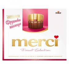 <b>Конфеты Merci</b> «<b>Ассорти</b> с кремово-фруктовой начинкой ...