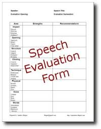 Speech Analysis: Evaluation Forms, Tools, Resources