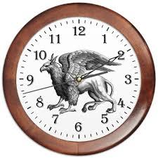 """Часы круглые из дерева """"<b>Мистическое животное грифон</b> ..."""