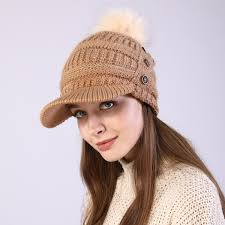 Hot Sale #28c9 - OMEA Womens Visor Beanie <b>Winter</b> Warm Woolen ...