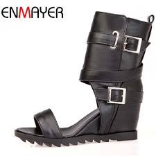 Ankle Boots for Women New Big Size34 43 Open Toe Soft Leather ...