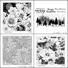<b>ZhuoAng Beautiful</b> Flower/Petal Fallen leaves <b>Clear</b> Stamps For DIY ...