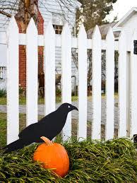 black cat outdoor halloween decoration easy crafts and homemade giant raven exterior design ideas child friendly halloween lighting inmyinterior outdoor