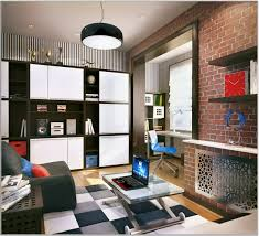 white teenage boy bedroom with exposed brick walland cabinet and black pendant lamp stylish bedroom boys bedroom furniture stylish bedroom decorating