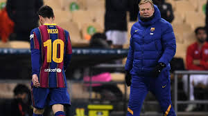 Barcelona 2-3 Athletic Bilbao: <b>Lionel Messi</b> sent off for lashing out in ...