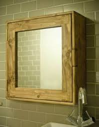 washstand bathroom pine: bathroom cabinet cupboard mirror handmade in uk chunky eco wood modern rustic