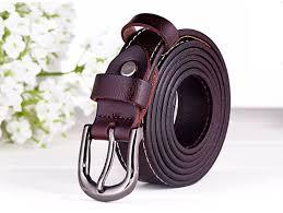 <b>FAJARINA High Quality</b> Fine <b>100</b>% Pure Genuine Leather Belt Metal ...