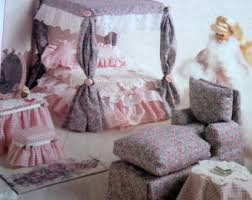 barbie doll furniture sewing pattern mccalls 8140 11 12 fashion doll bedroom and living room furniture uncut pattern barbie bedroom furniture