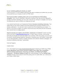 insurance marketing insurance marketers blog page  insurance marketing letter page 2