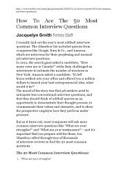 forbes article how to ace the 50 most common interview questions forbes article how to ace the 50 most common interview questions norm mathematics interview