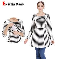 <b>Emotion Moms Long</b> sleeve maternity clothes Pregnancy Nursing ...