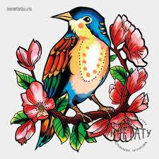 <b>Переводная татуировка</b> Японская птичка – купить в интернет ...