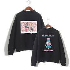 BTS World Tour <b>2019</b> Turtleneck Sweatshirts Women/<b>Men</b> Long ...