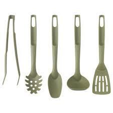 kitchen utensil: speciell  piece kitchen utensil set dark green