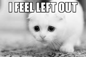I feel left out - Sadcat   Meme Generator via Relatably.com