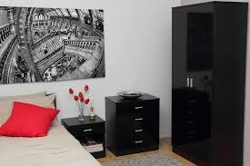 furniture bedroom set design black glossy