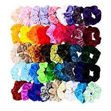 Chloven 45 Pcs Hair Scrunchies Velvet Elastics Hair ... - Amazon.com