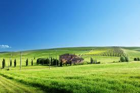 Beautiful rolling green hills.