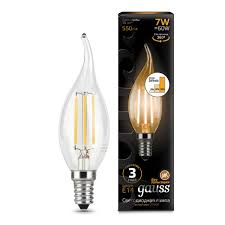 Лампочка <b>104801107</b>-<b>S Лампа Gauss</b> LED Filament Candle Tailed ...