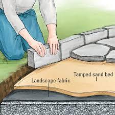 stone patio installation: edging for flagstone enlarge image p scm   edging for flagstone enlarge image
