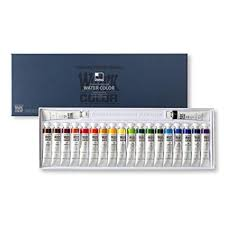 SHINHAN Professional <b>Watercolor Paint</b> 12ml Tubes <b>20 Color</b> Set