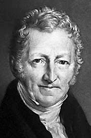 Thomas Robert Malthus (1766-1834), engl. parson and national economist, set (negative) standards on human population sciences. - ThomasRobertMalthus