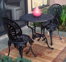 wrought iron table black wrought iron table