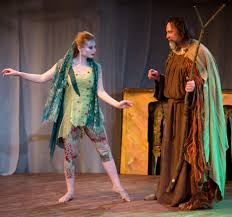 chicago theater review the tempest city lit callie johnson as ariel and dave skvarla as prospero in city lit s production of shakespeare s the
