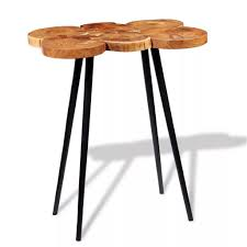 vidaXL <b>Log Bar Table Solid</b> Acacia Wood 90x60x110 cm