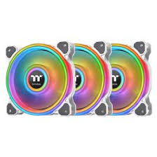 <b>Riing Quad</b> 12 RGB Radiator <b>Fan TT</b> Premium Edition 3 <b>Fan</b> Pack ...