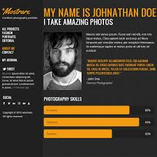 psd portfolio and resume website templates colorlib mostrare psd portfolio template