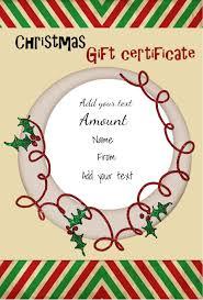 christmas gift certificate templates christmas gift certificate template