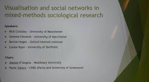 sociology data big and small this morning we had a plenary on visualisation and social networks in mixed methods sociological research at the british sociological association