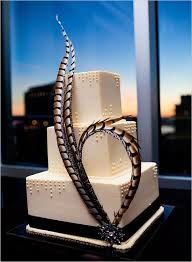 this art deco inspired cake is so striking with the feathers source media art deco inspired pinterest