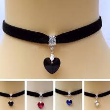 New 1x Gothic <b>Velvet</b> Heart <b>Crystal</b> Choker <b>Handmade</b> Necklace ...
