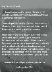 best ideas about john adams high school anti love letter from abigail adams to john adams