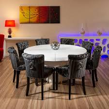 Round Back Dining Room Chairs Large Round Dining Table Seats 8 Rpg Magazine