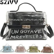 2019 <b>Clear Transparent</b> PVC Shoulder Bags Women Candy <b>Color</b> ...