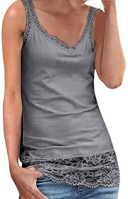 Zerototens Ladies Strappy Camisole Top T Shirt Womens <b>Casual</b> ...