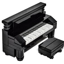 Lego Furniture Lego Furniture Black Piano Bench Set W Parts Instructions