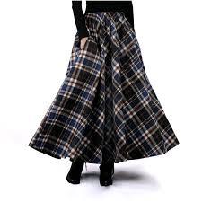 <b>2017 Autumn</b> Winter <b>Women</b> Skirt <b>Vintage</b> and <b>Retro</b> Wool Maxi ...